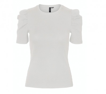 Vero Moda - Polly puff top / White