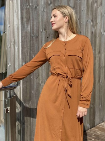 Freequent - siga dress / Rust