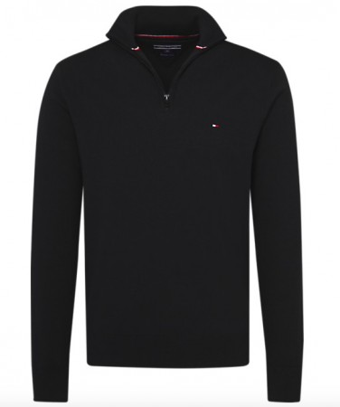 Tommy Hilfiger - Classic Cotton Zip / sort