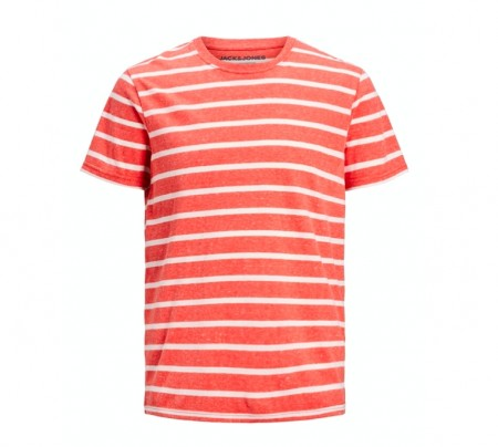 Jack & Jones - Striped tee / Chili