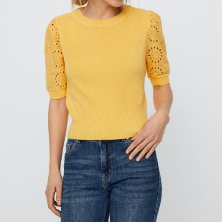 Vero Moda - Vmnewflower ss o-neck / Gul