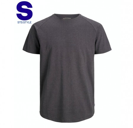 Jack & Jones - Curved tee ss / dark grey melange