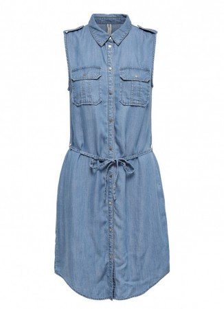Only - Claire blue shirt dress