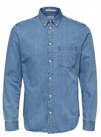 Selected Homme - Landon perfect shirt / lys blå
