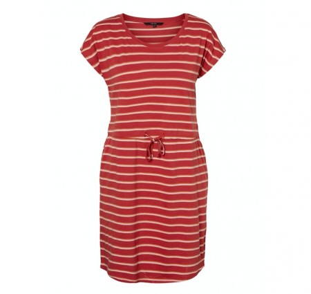 Vero Moda - April short dress / Marsala stripes