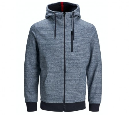 Jack & Jones - Best sweat hoody / mellomblå