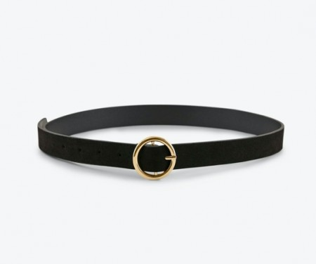 Pieces - Bonna suede jeans belt / Black
