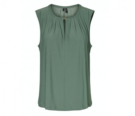 Vero Moda - Milla ss button / Laurel