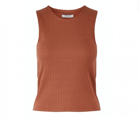 Pieces - Molly tank top / Copper brown