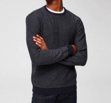 Selected Homme - Andrew camp crew neck  / Blåstripet