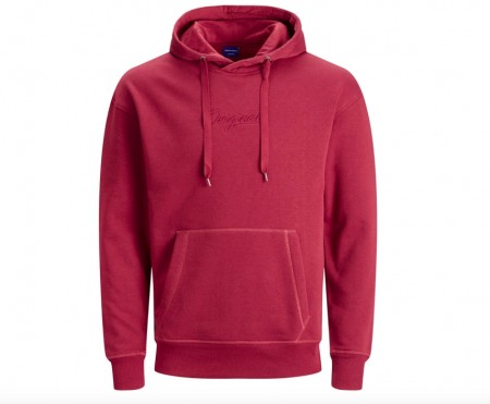 Jack & Jones - Newtop sweat hood / rød