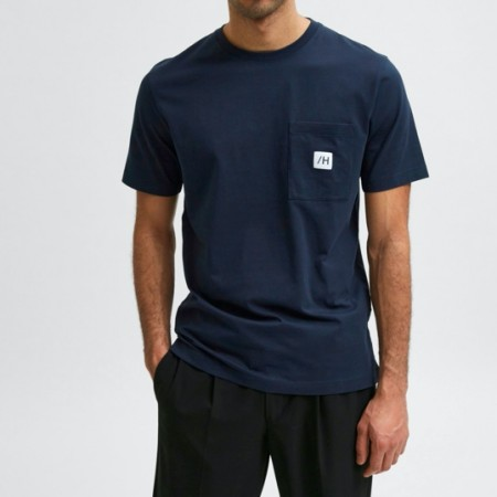 Selected Homme - Slhenzo pocket ss o-neck / Navy