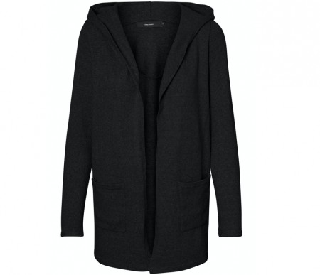 Vero Moda - Doffy hood cardigan / Black