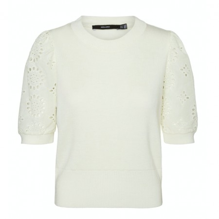 Vero Moda - Vmnewflower ss o-neck / Off white
