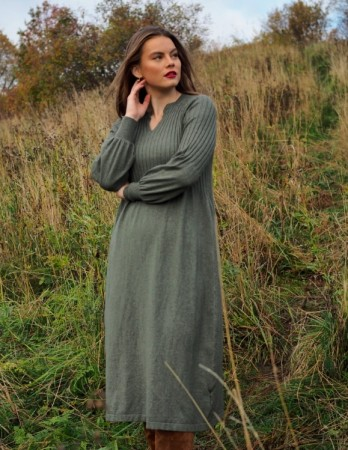 Nectar - Una knit dress / Olive