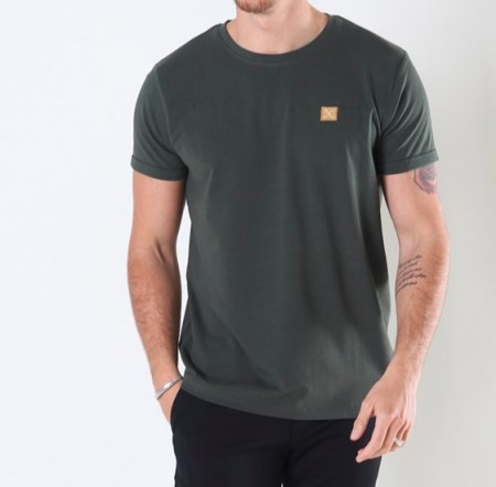 Clean Cut Copenhagen - Basic Organic Tee / Bottle green