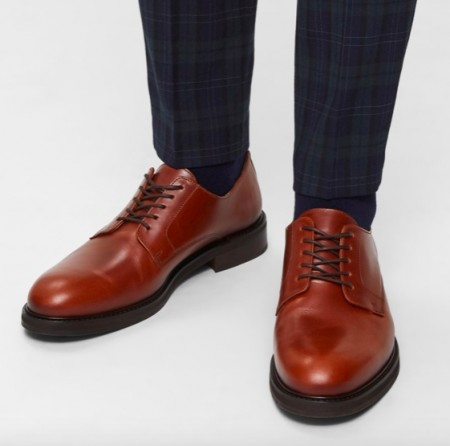 Selected Homme - Louis Leather derby shoe / Cognac