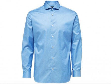 Selected Homme - Pelle Shirt reg / Mellomblå