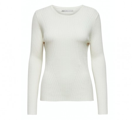 Only - Natalia rib pullover / off-white