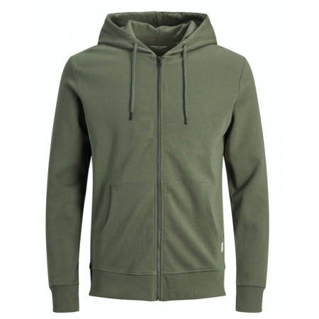 Jack & Jones - Jjebasic Sweat Zip Hood / Grønn