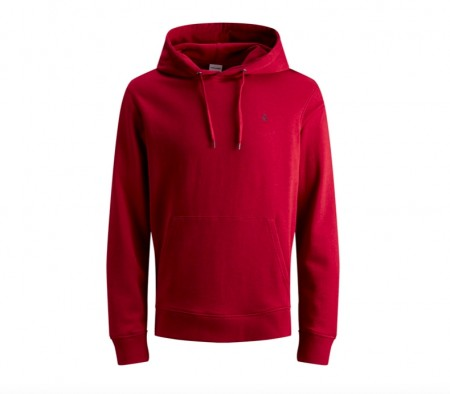 Jack & Jones - Dustin sweat hood/ rød
