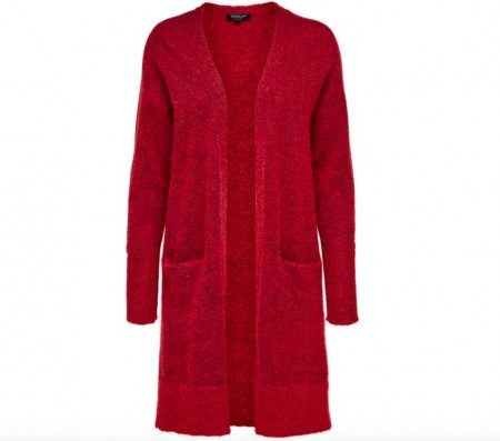 Selected Femme - Livana ls cardigan / True red