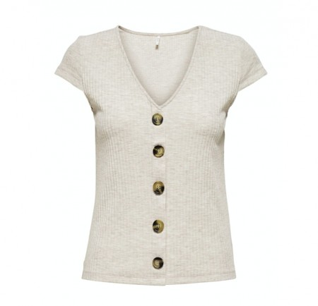 Only - Nella s/s button top / Pumice stone