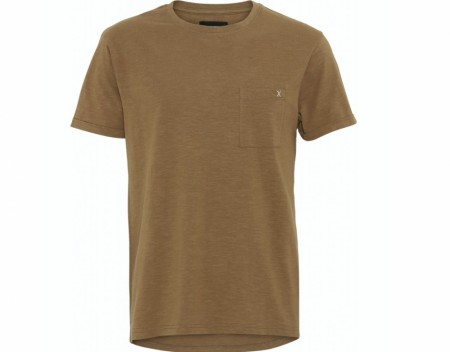 Clean Cut Copenhagen - Kolding Organic Tee / Light brown