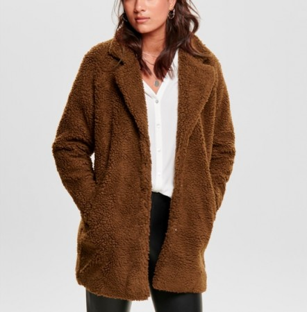 Only - Aurelia sherpa Coat / Brun