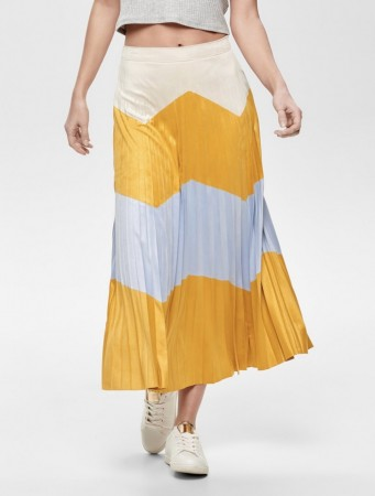 Only - June Faux suede maxi skirt / Golden Yellow