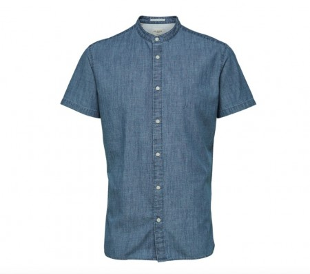 Selected Homme - Nolan china shirt / Lys blå