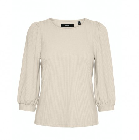Vero Moda - Vmfranca 3/4 Top / Off white