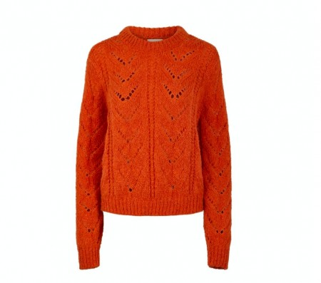 Pieces - Senna o-neck knit / Burnt orche