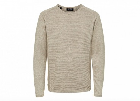 Selected Homme - Bakes Crew Neck / Sand
