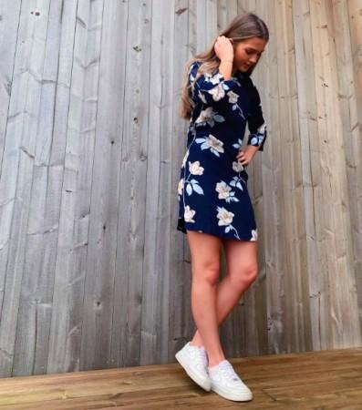 Freequent - Tinna dress   Blå 71cf944273864