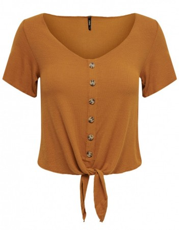 Only - minka knot top / Rust