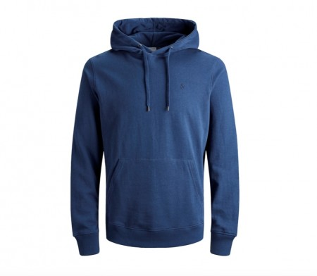 Jack & Jones - dustin sweat hood/ blå
