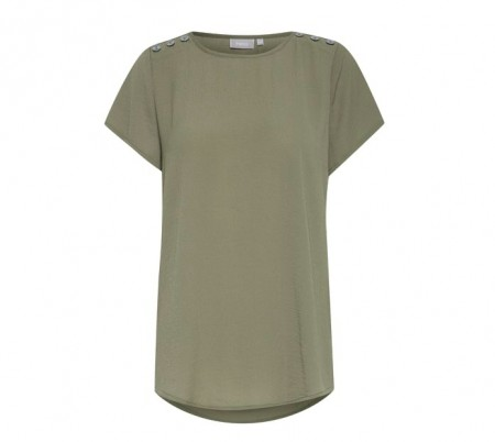 Fransa - Jasolid 1 blouse / hedge