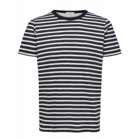 Selected Homme - Bjorn stripe tee / Blå