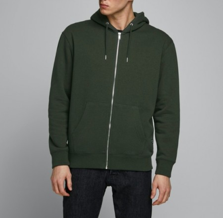 Jack & Jones - Soft sweat zip hood / Olive