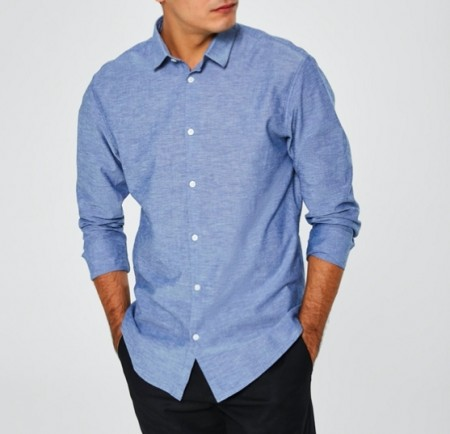 Selected Homme - Slimlinen shirt / Blå