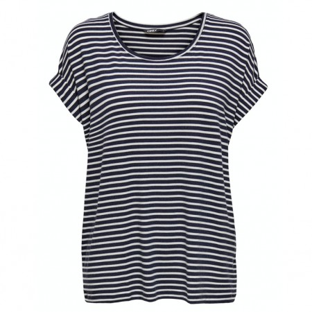 Only - moster stripe top / Blå