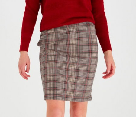 Fransa / Lecheck 2 Skirt / barn red mix