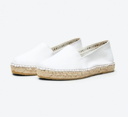 Selected Femme - Marie leather espadrilles / White