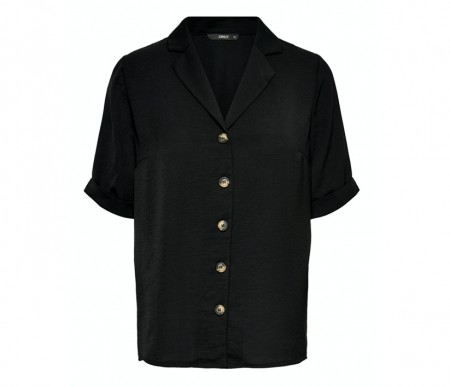Only - Sky shirt solid / Black