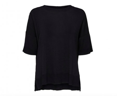 Selected Femme - Wille ss knit / Sort
