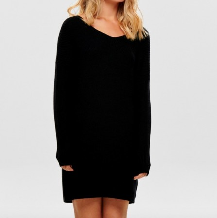 Only - Cathlene l/s dress / Sort