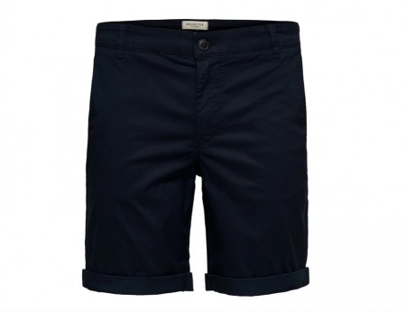 Selected Homme - Straight paris shorts / mørkblå