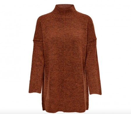 Only - Elaina long pullover / rust