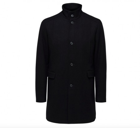 Selected Homme - Mosto wool coat / Svart